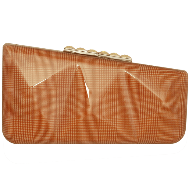 Minaudiére in Prince of Wales Plaid Orange-Minaudiere-72 Smalldive