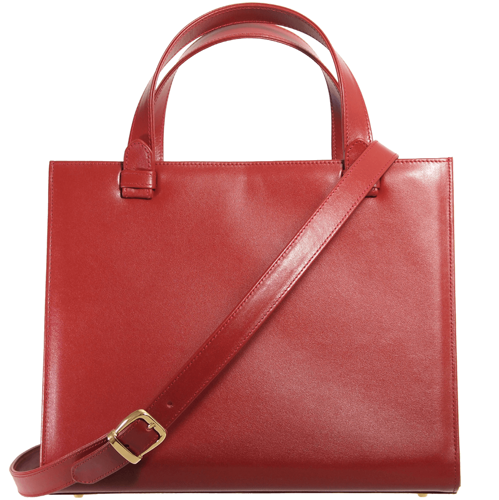 Large Buffed Calf Leather Tote Ruby-Handbag-72 Smalldive