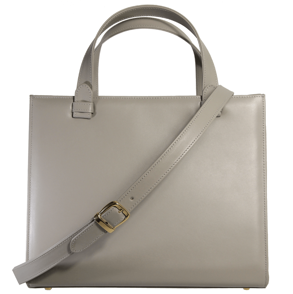 Large Buffed Calf Leather Tote Ivory-Handbag-72 Smalldive