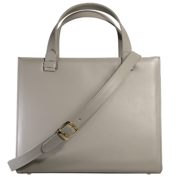 Large Buffed Calf Leather Tote Pumice - 72 Smalldive