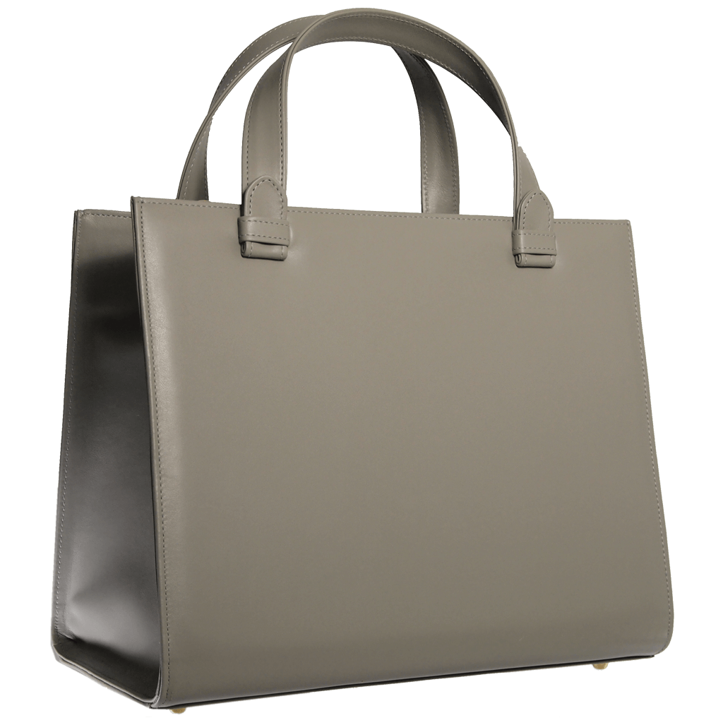 Large Buffed Calf Leather Tote Ivory - 72 Smalldive