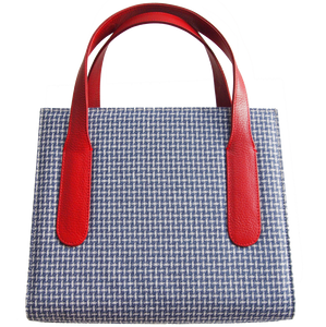 72 Smalldive Briefcase & Totes Large Eco Wool & Cotton Tote Blue-Red.