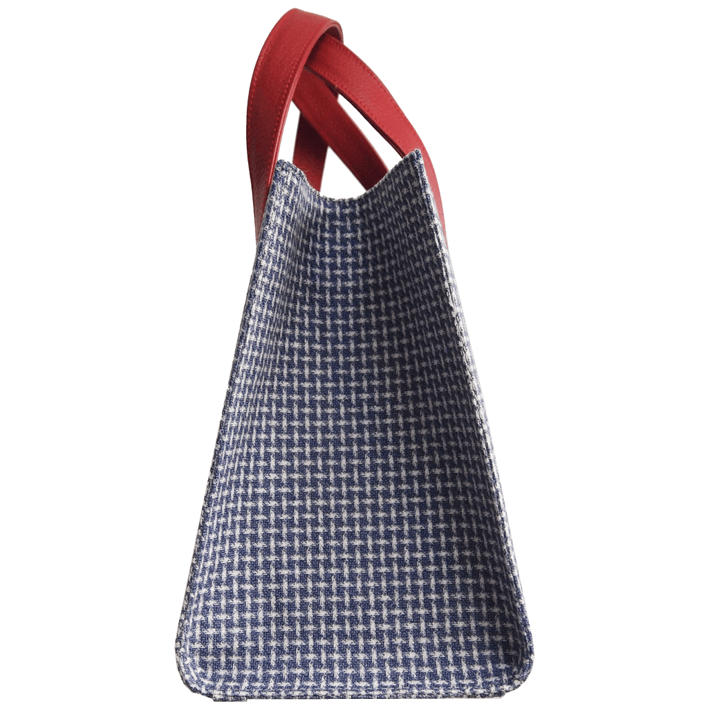 Large Eco Wool & Cotton Tote Blue-Red-Handbag-72 Smalldive