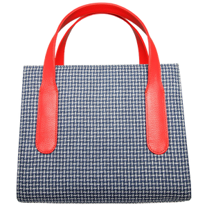 Large Eco Wool & Cotton Tote Blue-Coral-Handbag-72 Smalldive