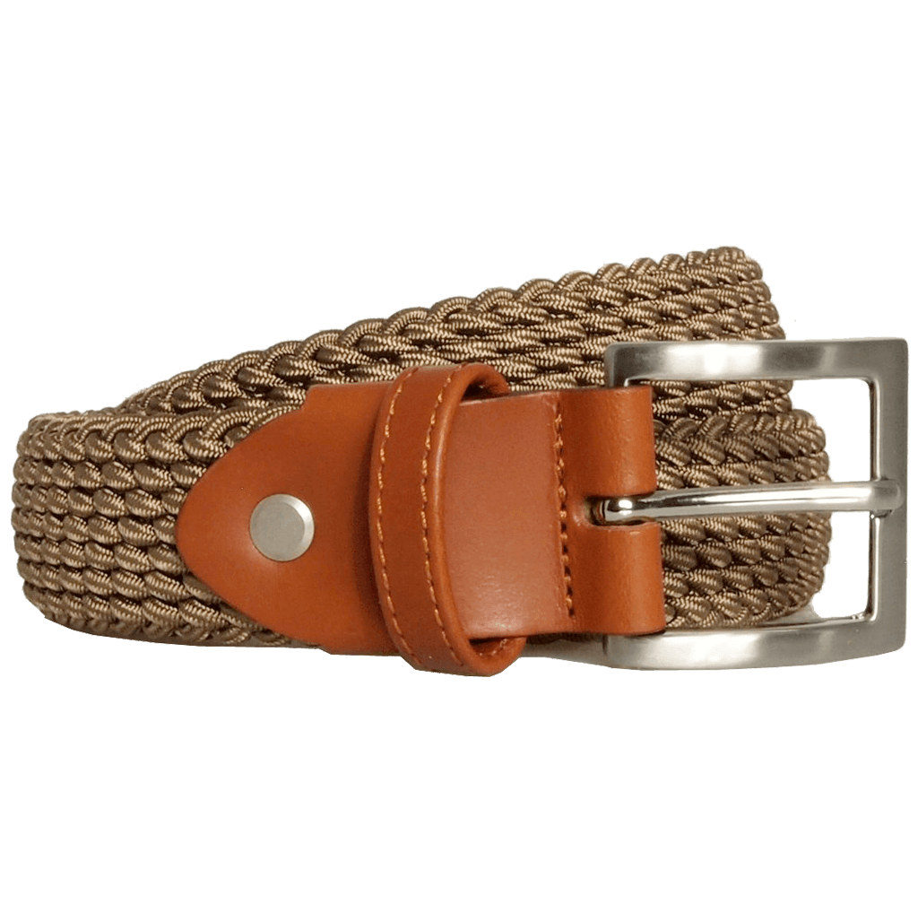 30 mm Leather-Trimmed Viscose Belt