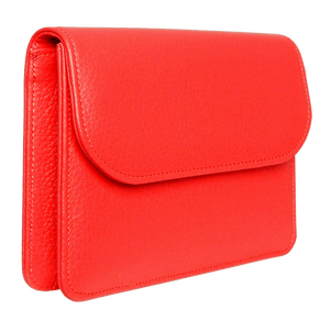 Pebbled Calf Leather Belt Pouch Coral-Handbag-72 Smalldive