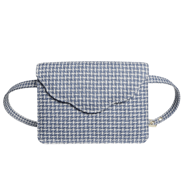 Fabric Belt Pouch Blue-Handbag-72 Smalldive