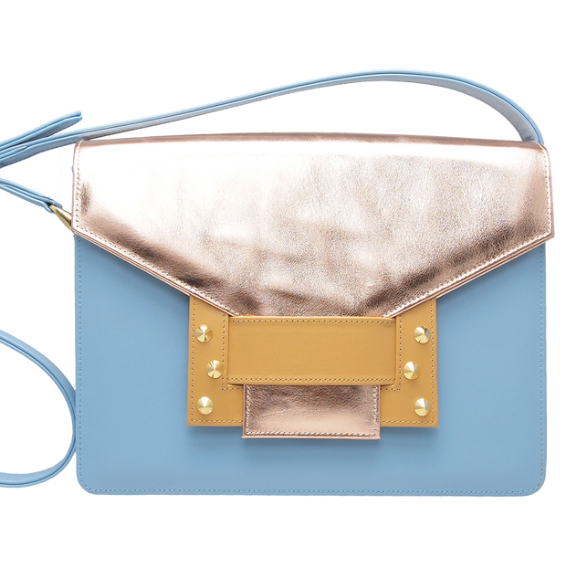 Metallic Shoulder Handbag Sky Camel - 72 Smalldive