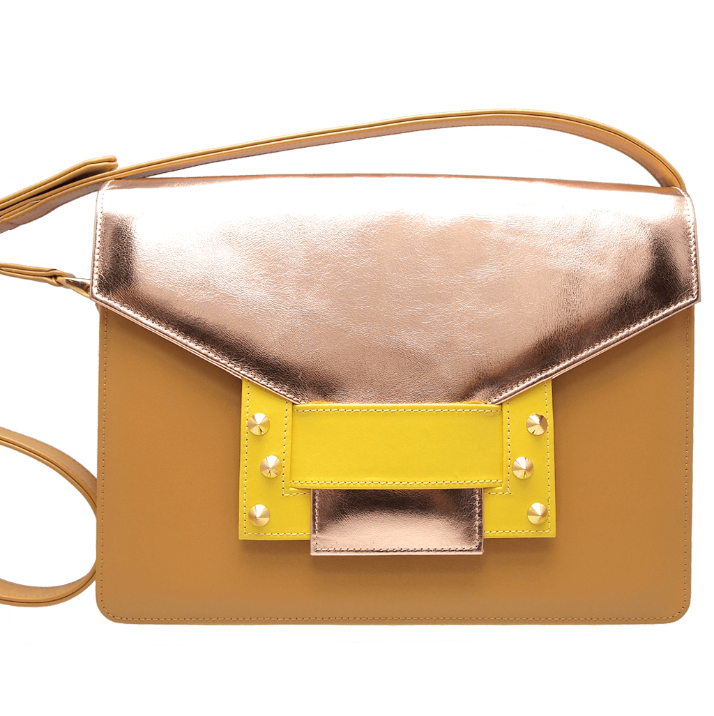 Metallic Shoulder Handbag Camel Sun-Handbag-72 Smalldive