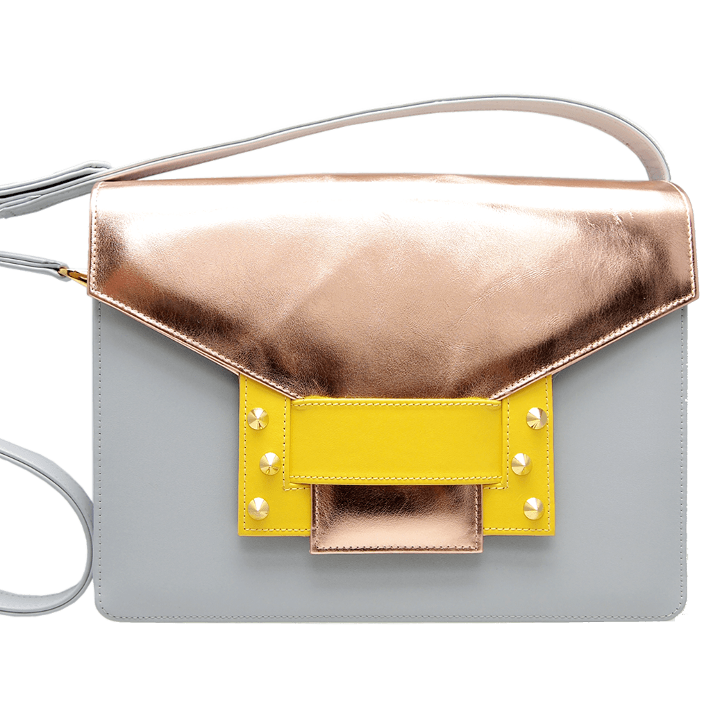 Metallic Shoulder Handbag Pumice Sun-Handbag-72 Smalldive