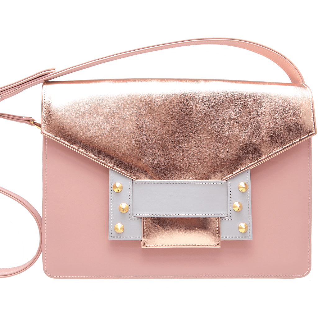 Metallic Shoulder Handbag Rose Sky-Shoulder & Hobo Handbag-72 Smalldive