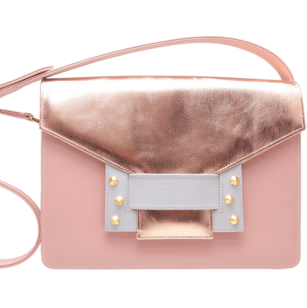 Metallic Shoulder Handbag Rose Sky-Handbag-72 Smalldive