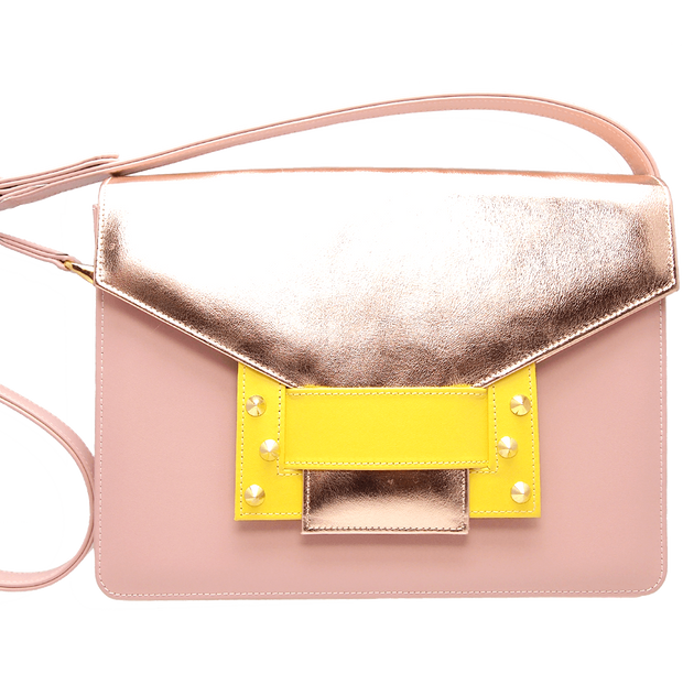 Metallic Shoulder Handbag Rose Sun-Handbag-72 Smalldive