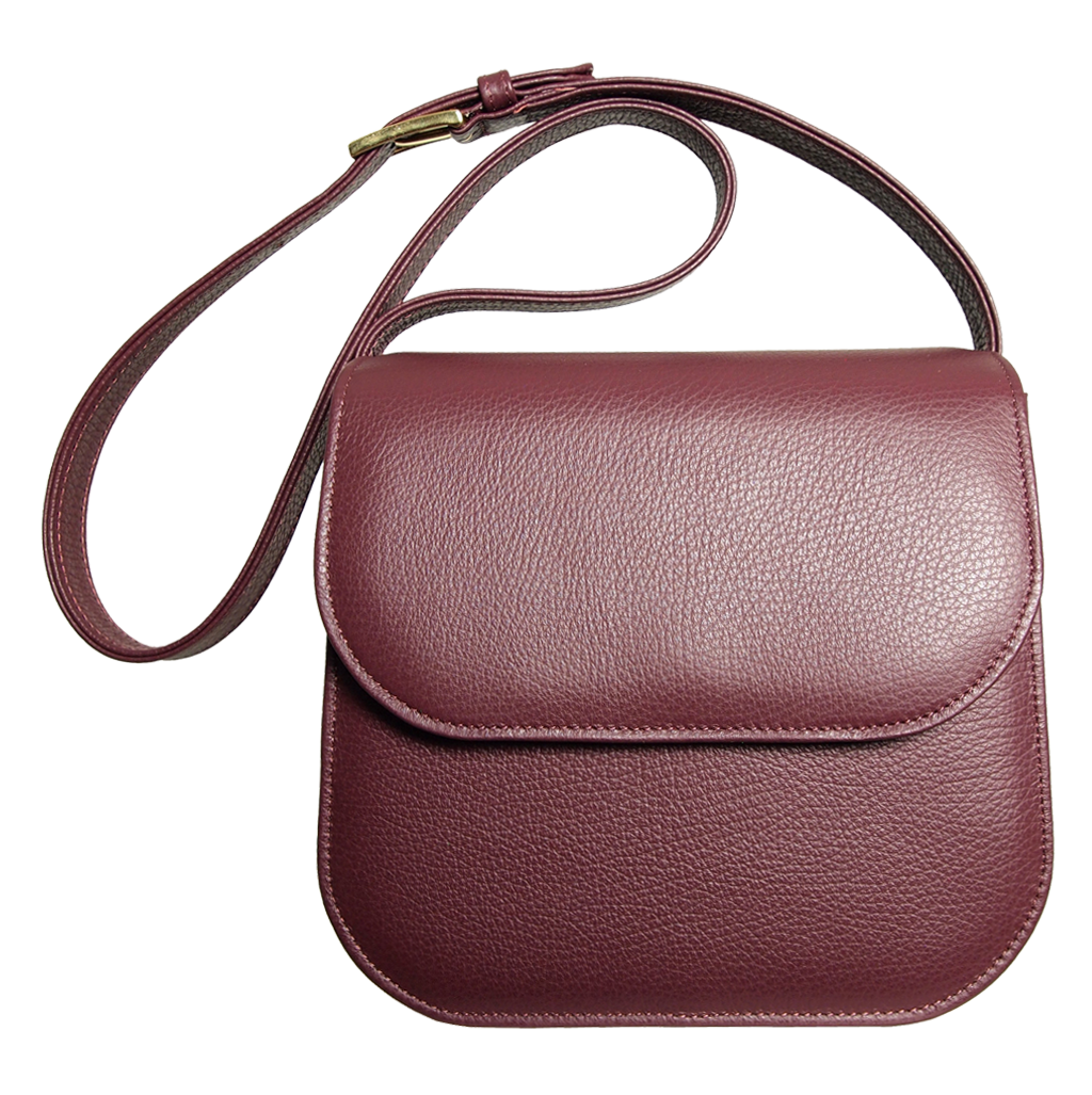 Midi Shoulder Bag Bordeaux-Handbag-72 Smalldive