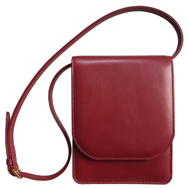 Buffed Leather Mini Vertical Shoulder Bag-Handbag-72 Smalldive
