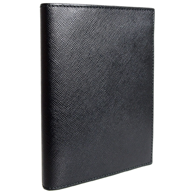 Saffiano Passport Sleeve Black-Unisex Wallets-72 Smalldive