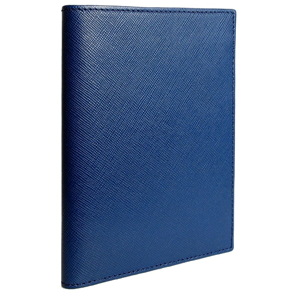 Saffiano Passport Sleeve Blue-Unisex Wallets-72 Smalldive