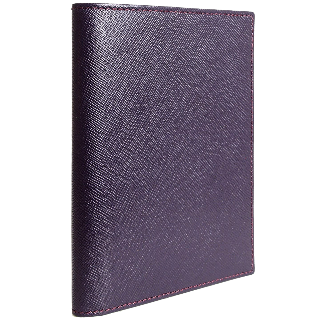 Saffiano Passport Sleeve Bordeaux-Unisex Wallets-72 Smalldive