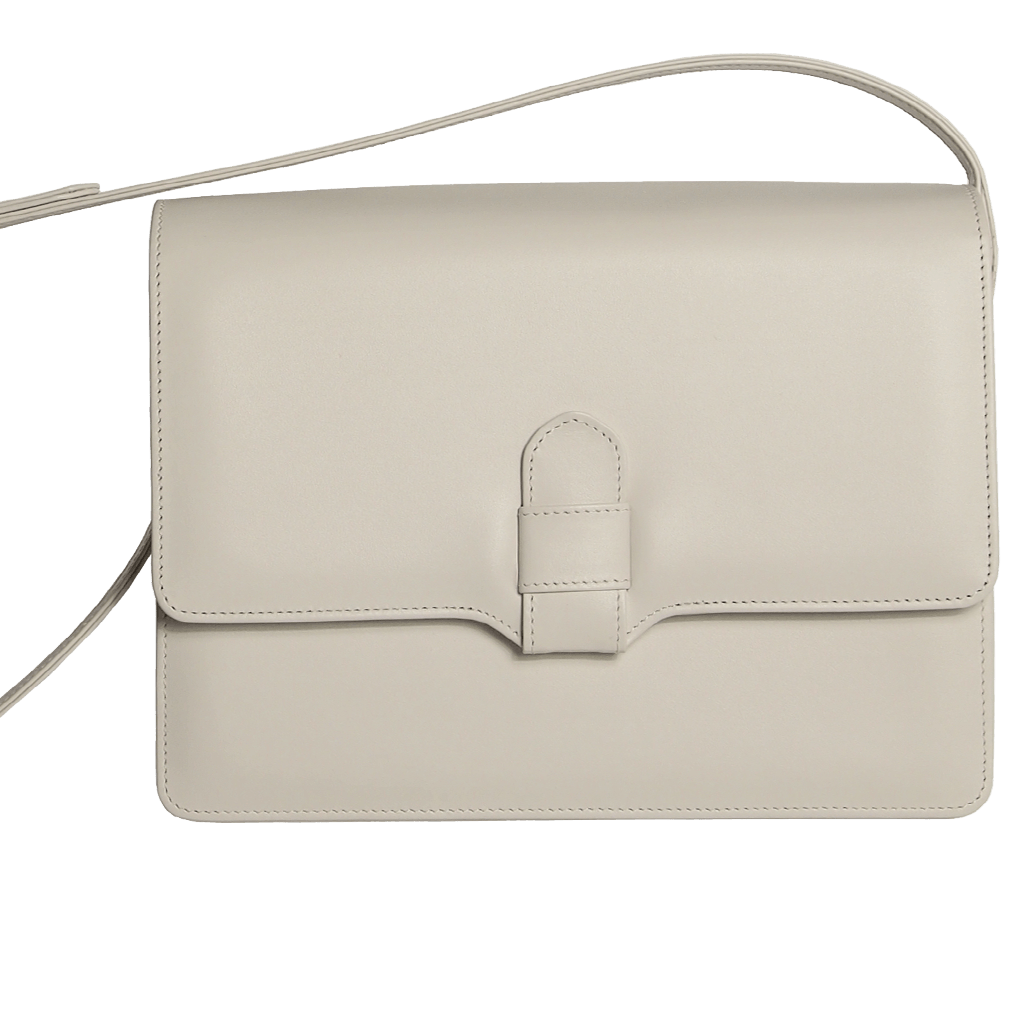 Calf Leather Shoulder Handbag Ivory-Handbag-72 Smalldive