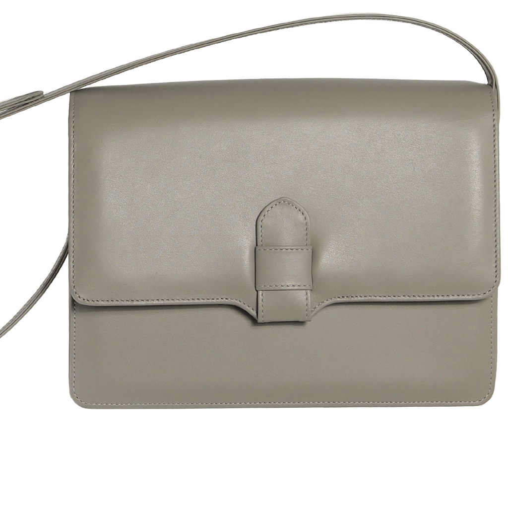Calf Leather Shoulder Handbag Pumice-Handbag-72 Smalldive