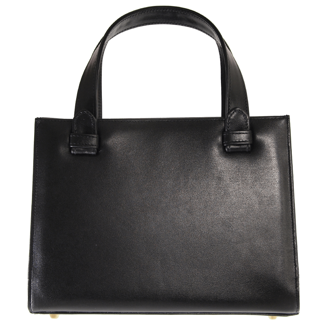 Calf Leather Tote Black - 72 Smalldive