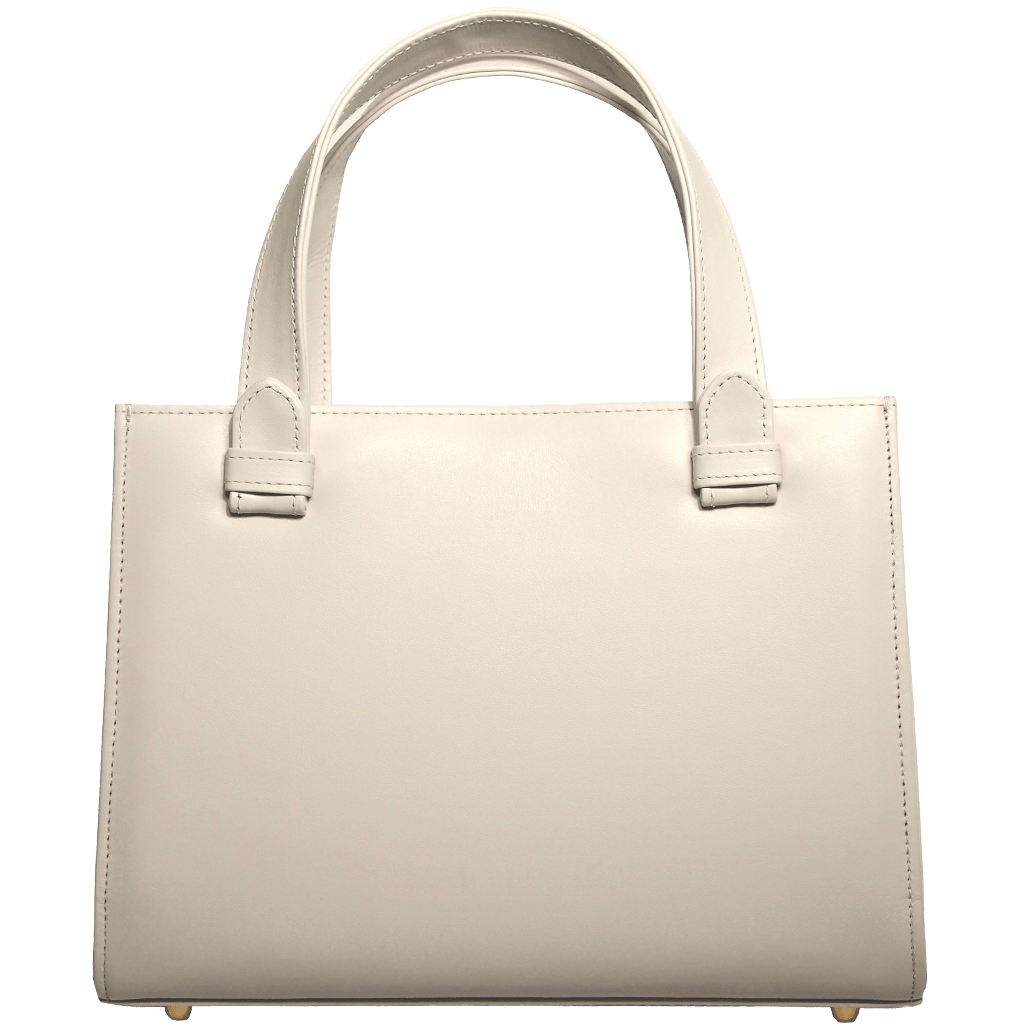 Calf Leather Tote Ivory-Minis & Pouches-72 Smalldive