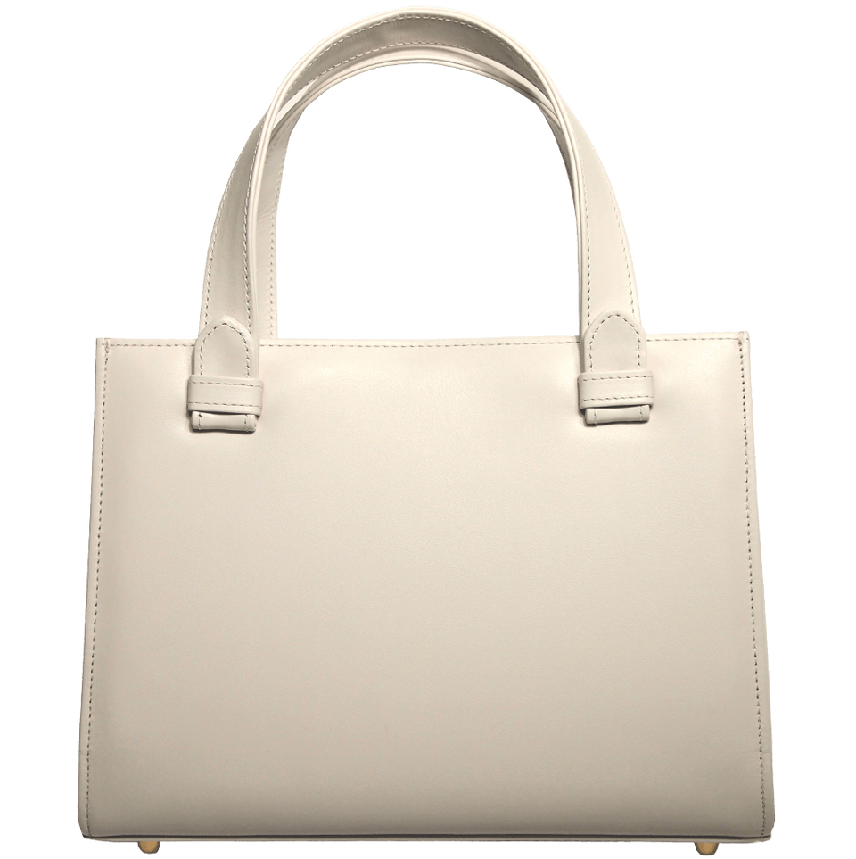 Calf Leather Tote Ivory-Handbag-72 Smalldive
