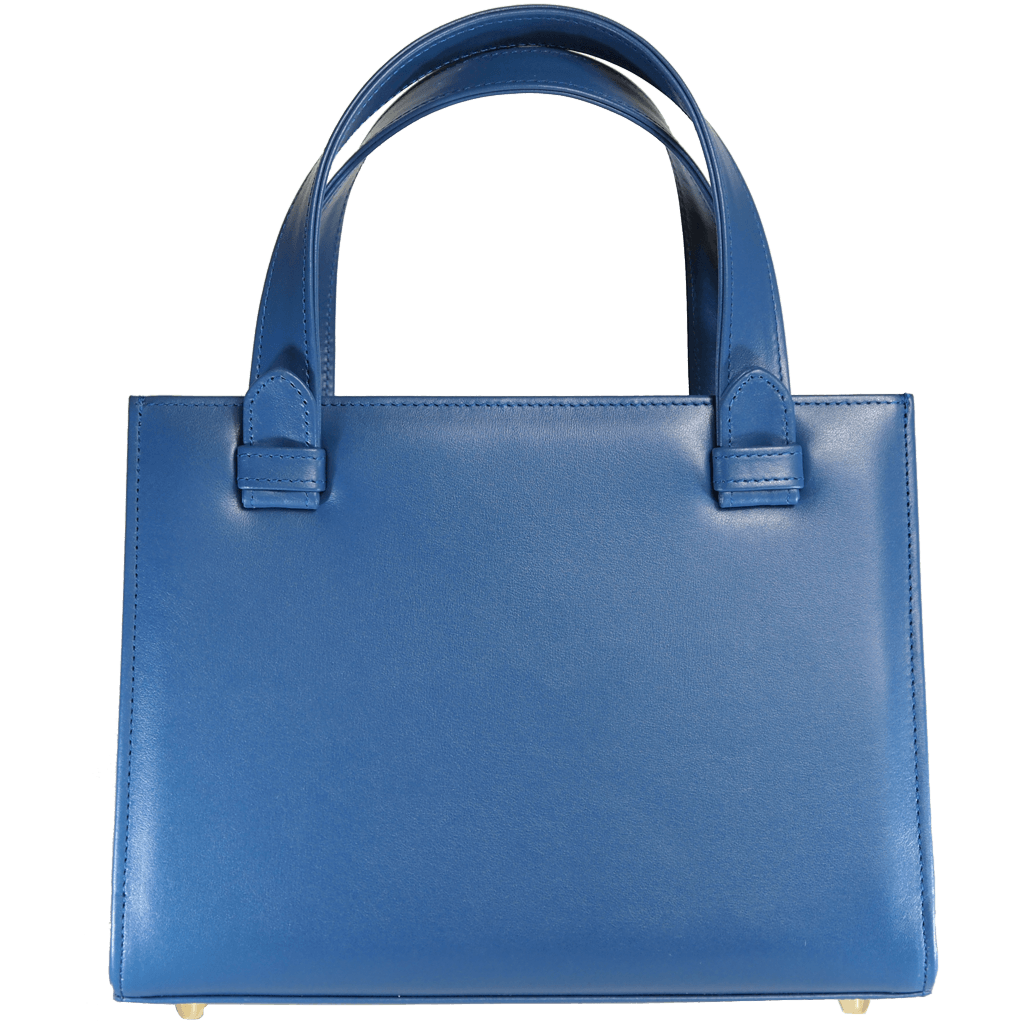 Calf Leather Tote Blue-Handbag-72 Smalldive