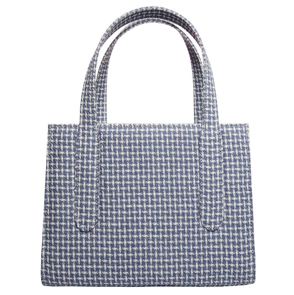 Eco Wool & Cotton Tote Blue-Handbag-72 Smalldive