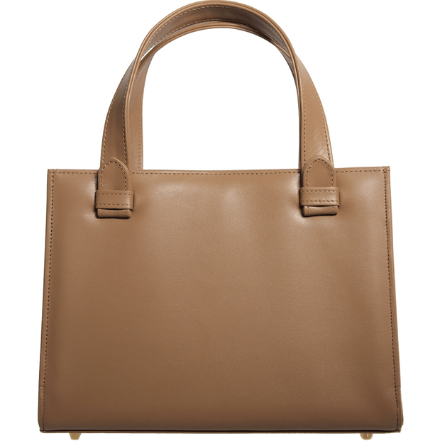 Calf Leather Tote Nut-Handbag-72 Smalldive