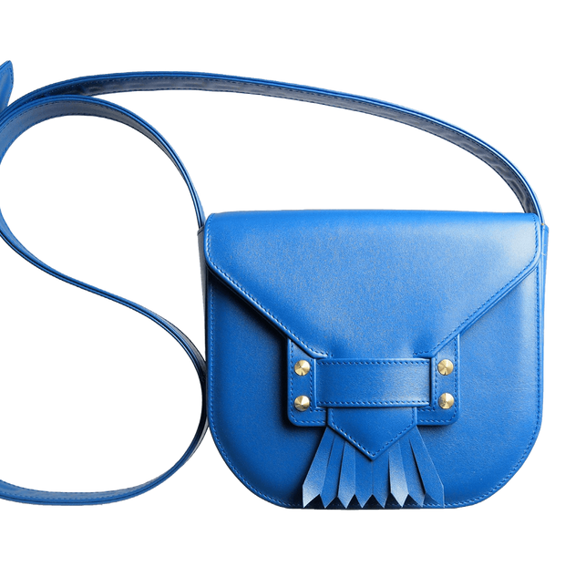 Saddle Bag with Dove Tail Fringe Blue-Handbag-72 Smalldive