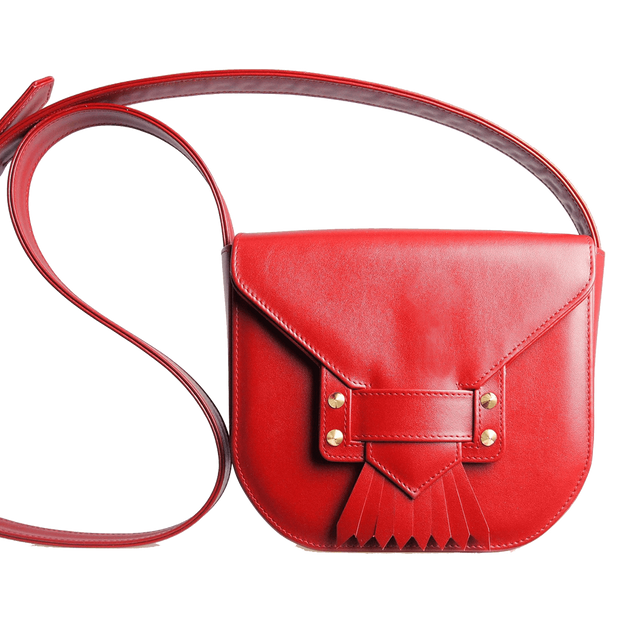Saddle Bag with Dove Tail Fringe Ruby-Handbag-72 Smalldive
