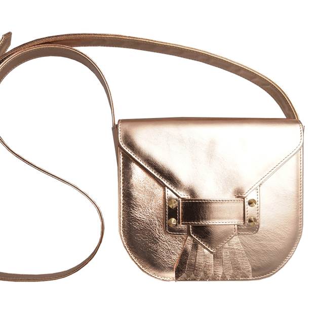 Saddle Bag with Dove Tail Fringe Rose Gold-Handbag-72 Smalldive