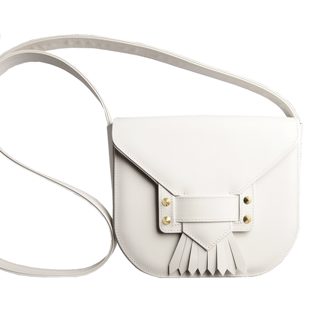Saddle Bag with Dove Tail Fringe Ivory-Handbag-72 Smalldive