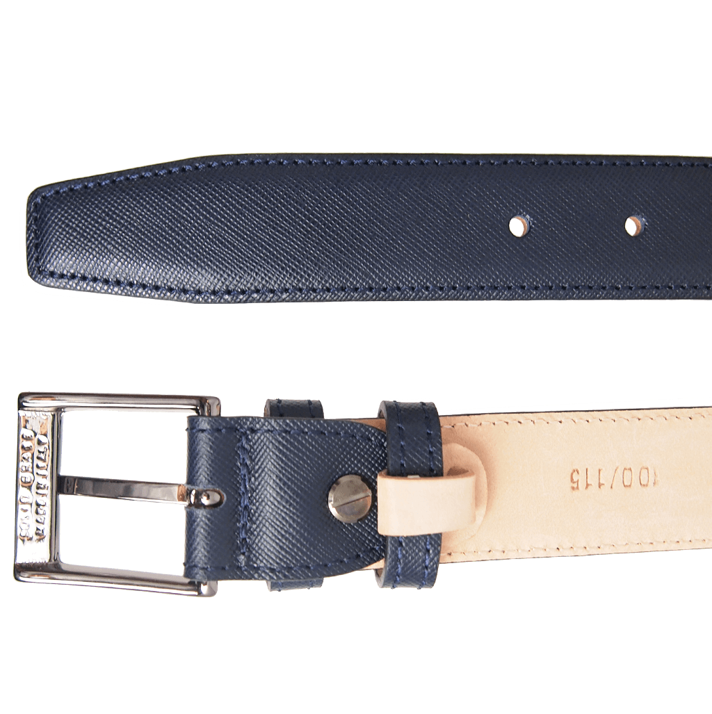 30 mm Sartorial Saffiano Belt Blue - 72 Smalldive