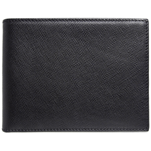 72 Smalldive Mens Wallets 8 Credit Card Saffiano Billfold Black.