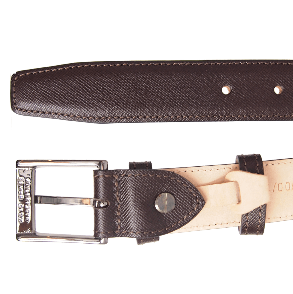 30 mm Sartorial Saffiano Belt Brown-Mens Belts-72 Smalldive