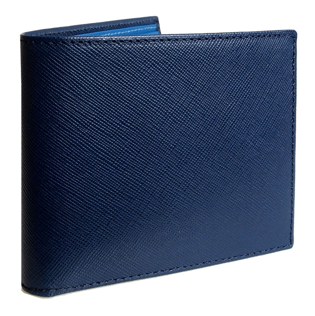 8 CC Saffiano Bi-Color Billfold Blue-Sky-Mens Wallets-72 Smalldive