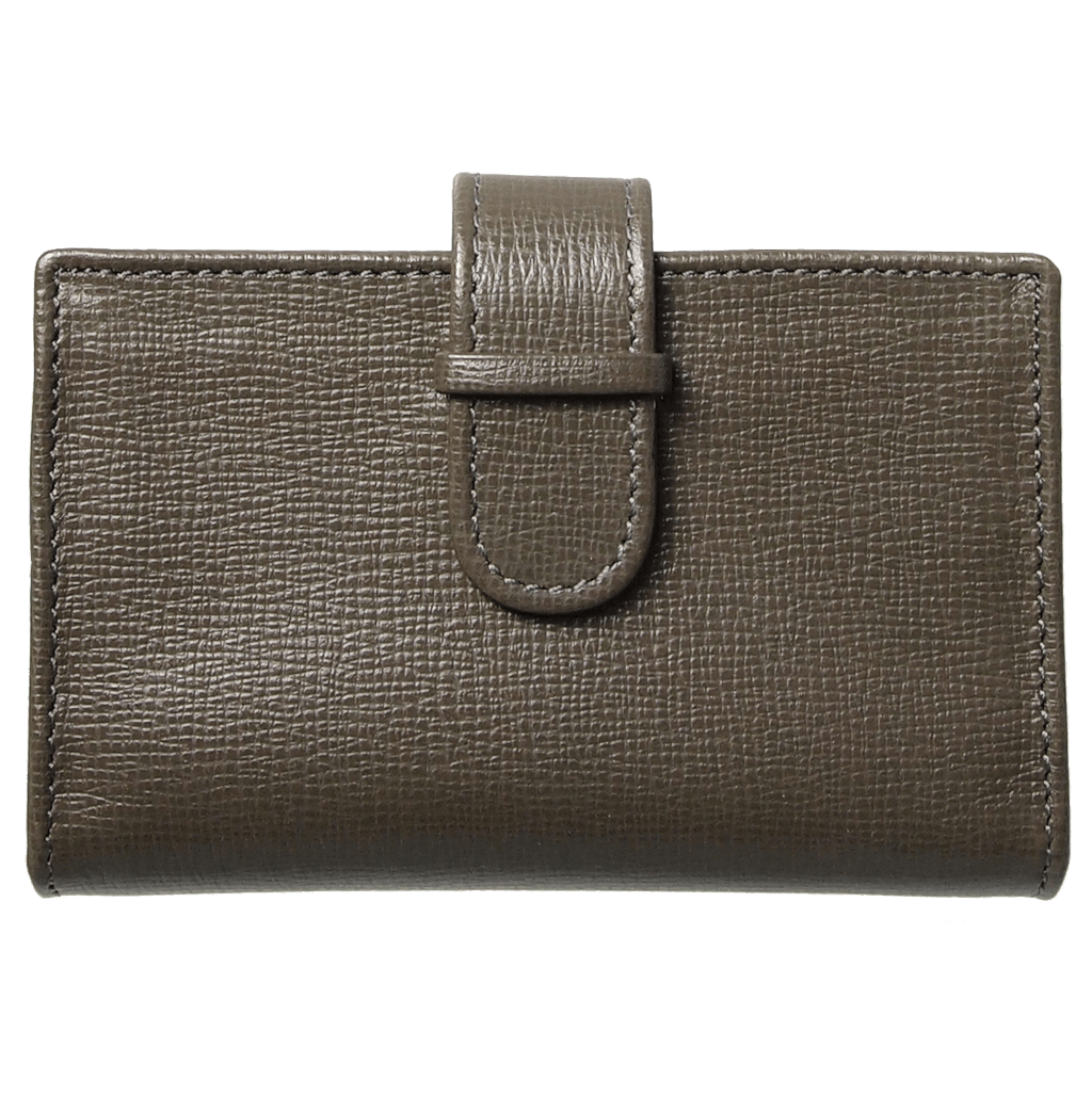 Saffiano Business Card Case Olive-Unisex Wallets-72 Smalldive