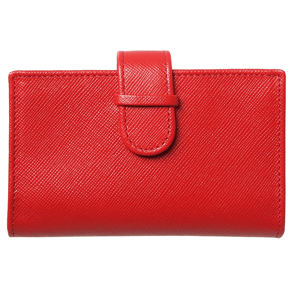 Saffiano Business Card Case Red-Unisex Wallets-72 Smalldive