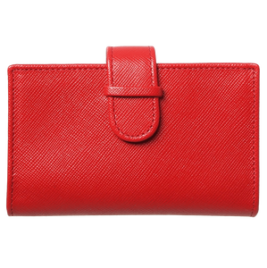 72 Smalldive Unisex Wallets Saffiano Business Card Case Red.