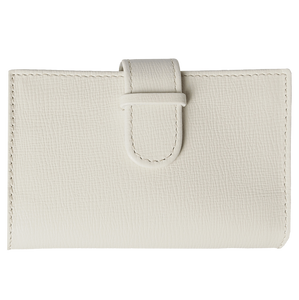 Saffiano Business Card Case Ivory-Unisex Wallets-72 Smalldive
