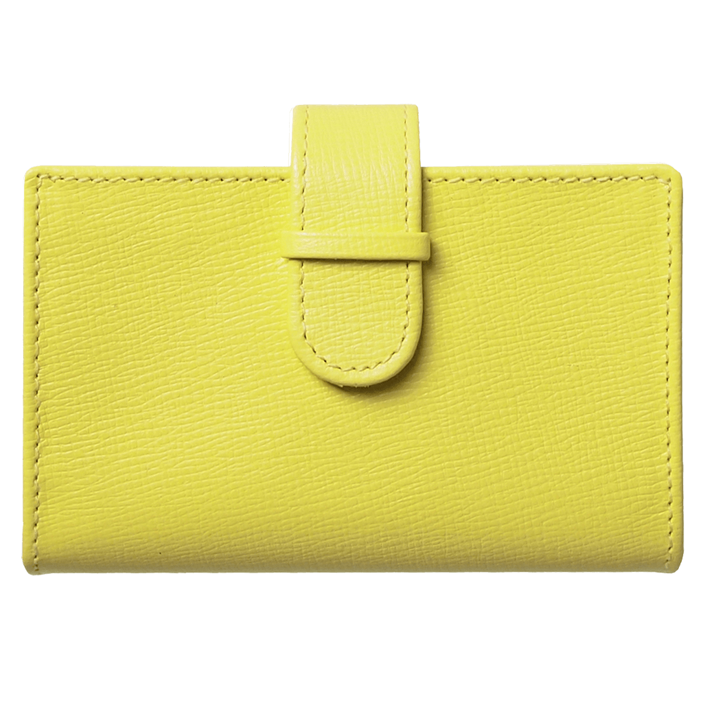 Saffiano Business Card Case Lemon-Unisex Wallets-72 Smalldive