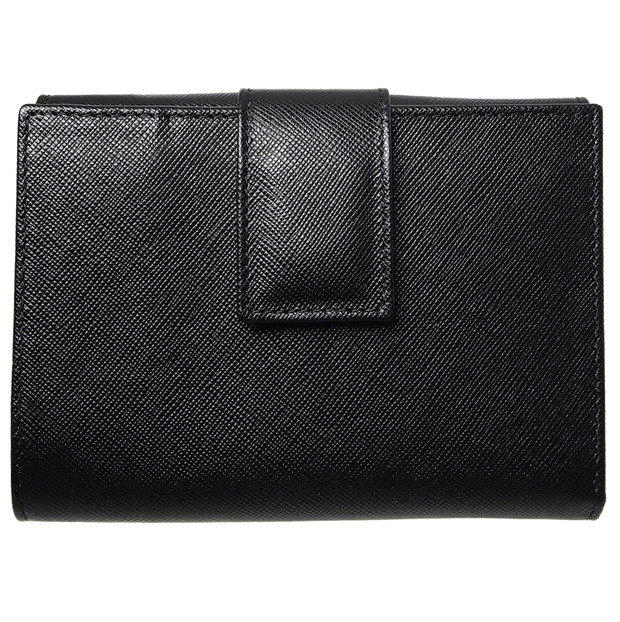 Saffiano French Wallet Black-Womens Wallets-72 Smalldive
