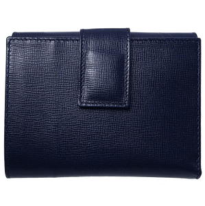 6 Credit Card Saffiano Leather French Wallet Blue-Womens Wallets-72 Smalldive