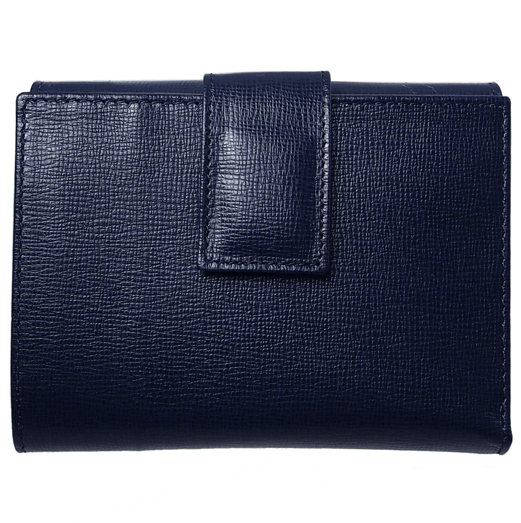 Saffiano French Wallet Blue-Womens Wallets-72 Smalldive