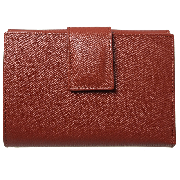 Saffiano French Wallet Brown-Womens Wallets-72 Smalldive
