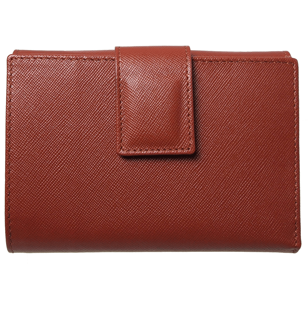 Saffiano French Wallet Brown - 72 Smalldive