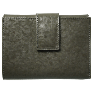 6 Credit Card Saffiano Leather French Wallet Olive-Womens Wallets-72 Smalldive