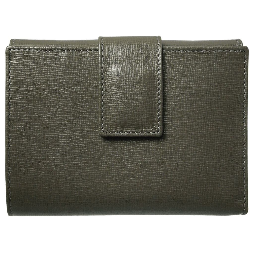 Saffiano French Wallet Olive-Womens Wallets-72 Smalldive